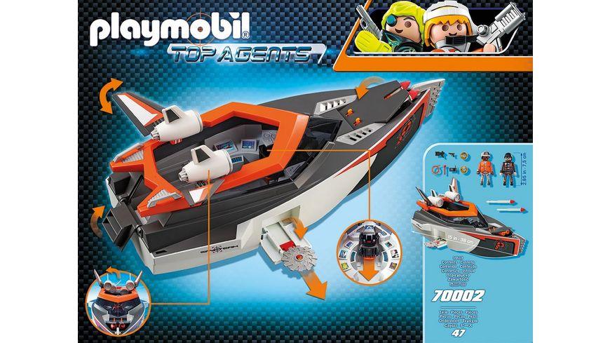 PLAYMOBIL 70002 Top Agents Spy Team Turboship