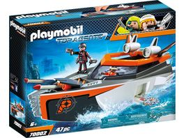 PLAYMOBIL 70002 Top Agents Spy Team Turboship