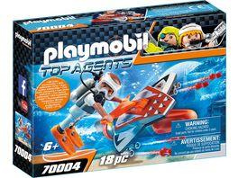 PLAYMOBIL 70004 Top Agents Spy Team Underwater Wing