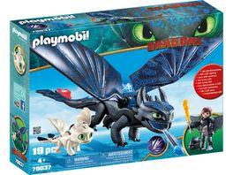 PLAYMOBIL 70037 Dragons Hicks und Ohnezahn mit Babydrachen