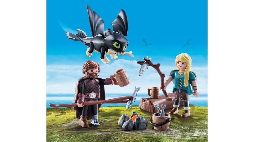 PLAYMOBIL 70040 Dragons Hicks und Astrid mit Babydrachen