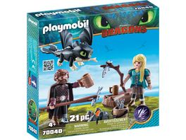 PLAYMOBIL 70040 Dragons Hicks und Astrid Spielset