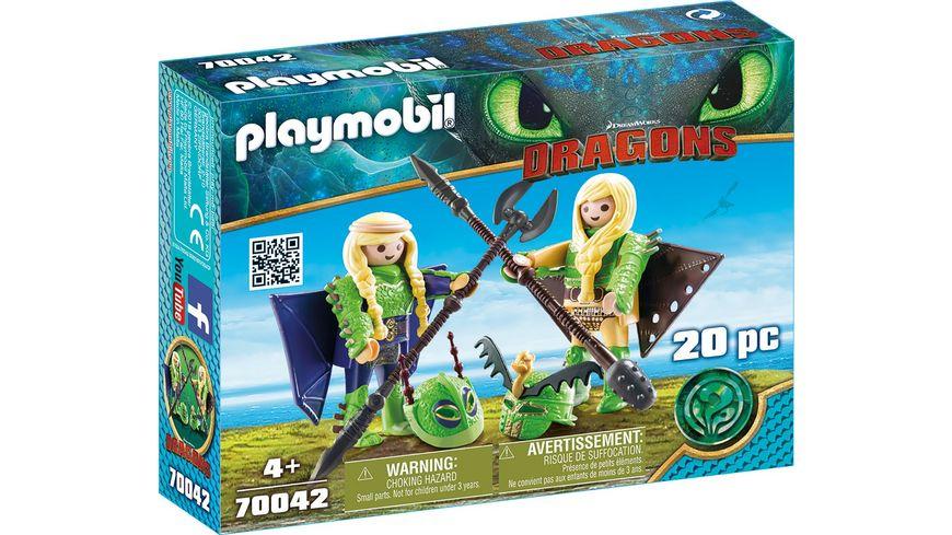 PLAYMOBIL 70042 Dragons Raffnuss und Taffnuss mit Fluganzug