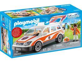 PLAYMOBIL 70050 City Life Notarzt PKW mit Licht und Sound