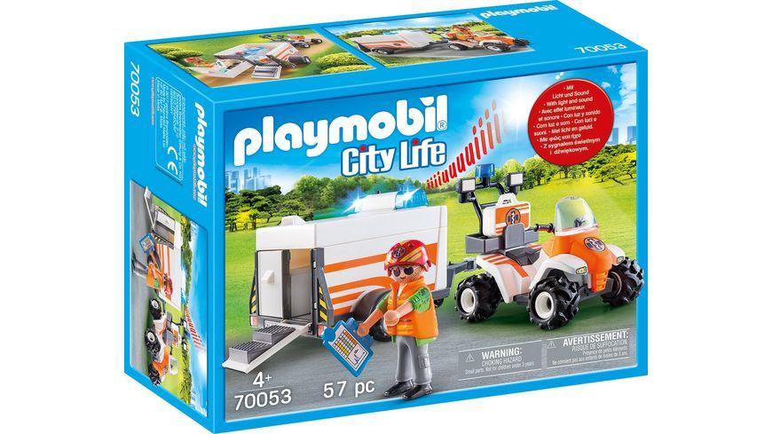 PLAYMOBIL 70053 City Life Quad mit Rettungsanhaenger