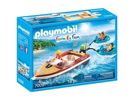 PLAYMOBIL 70091 Family Fun Sportboot mit Fun Reifen