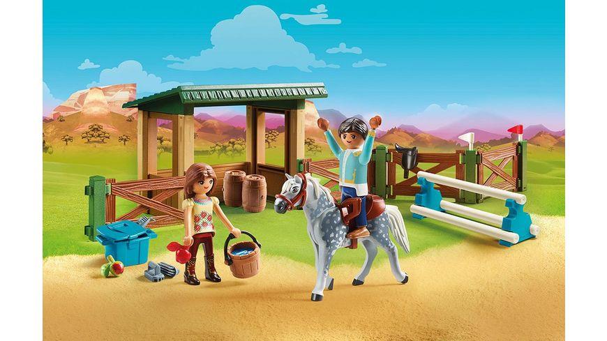 PLAYMOBIL 70119 Spirit Riding Free Reitplatz mit Lucky und Javier