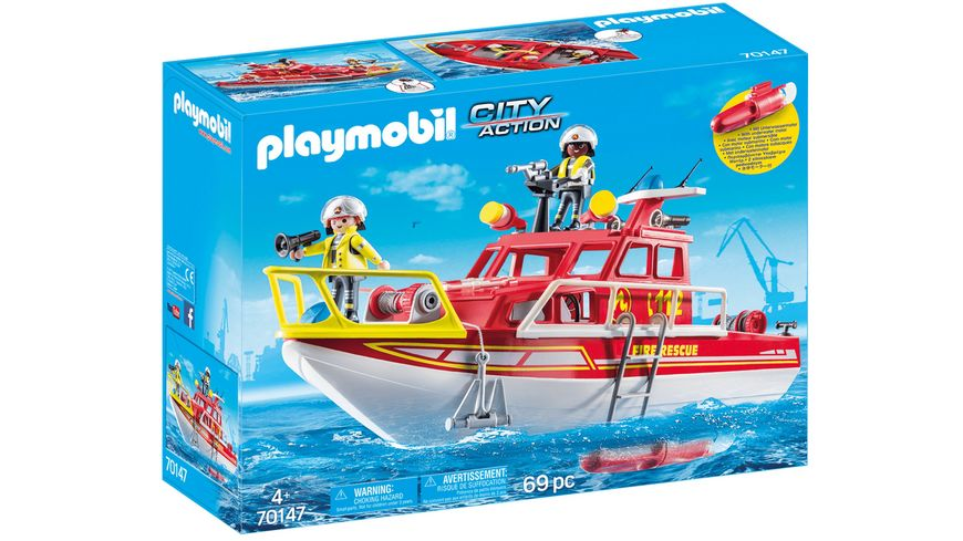 PLAYMOBIL 70147 City Action Feuerloeschboot