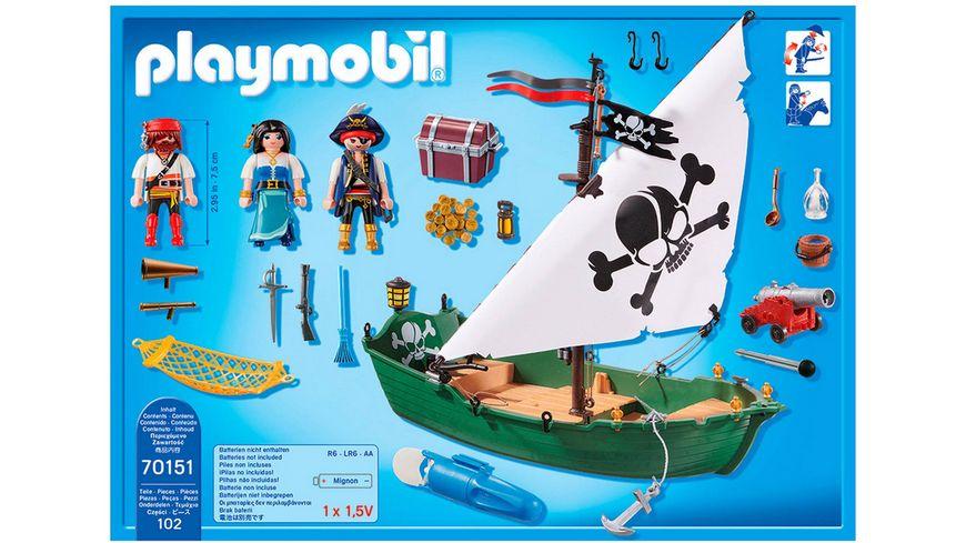 PLAYMOBIL 70151 Pirates Piratenschiff