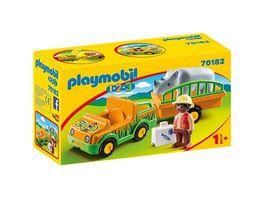PLAYMOBIL 70182 1 2 3 Zoofahrzeug mit Nashorn