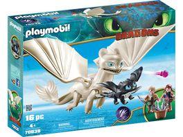 PLAYMOBIL 70038 Dragons Light Fury mit Babydrachen und Kindern