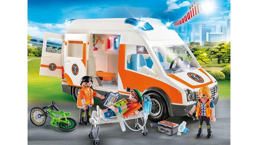 PLAYMOBIL 70049 City Life Rettungswagen mit Licht und Sound