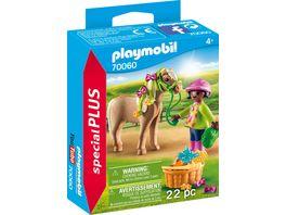 PLAYMOBIL 70060 Special Plus Maedchen mit Pony