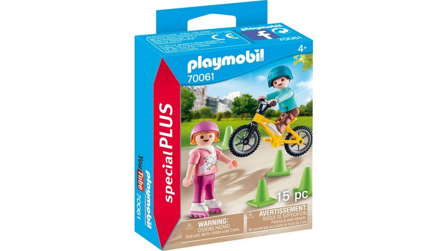 PLAYMOBIL 70061 Special Plus Kinder mit Skates und BMX
