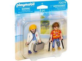 PLAYMOBIL 70079 DuoPack Aerztin und Patient