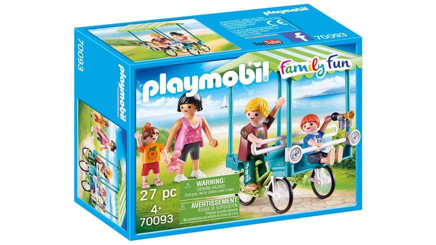 PLAYMOBIL 70093 Family Fun Familien Fahrrad