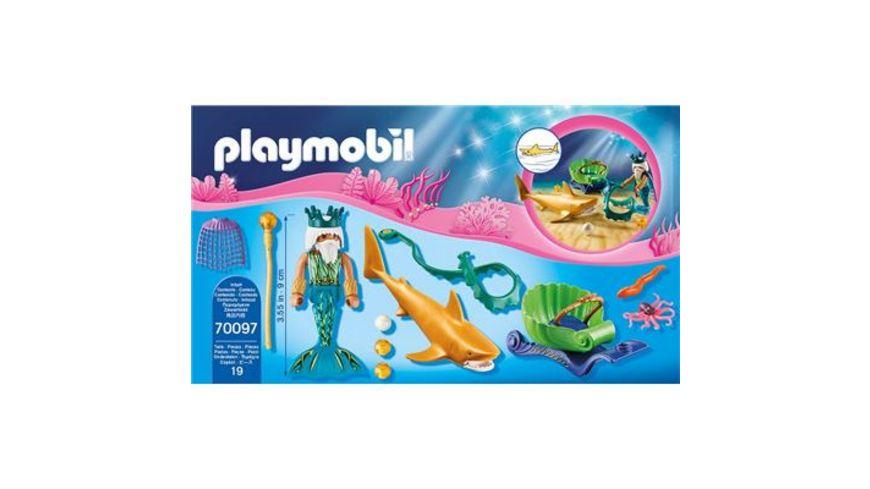 PLAYMOBIL 70097 Magic Meereskoenig mit Haikutsche