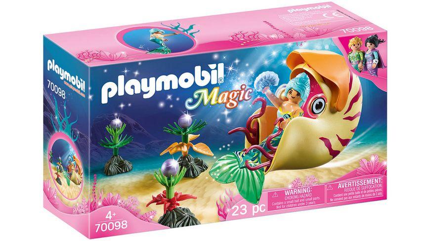 PLAYMOBIL 70098 Magic Meerjungfrau mit Schneckengondel