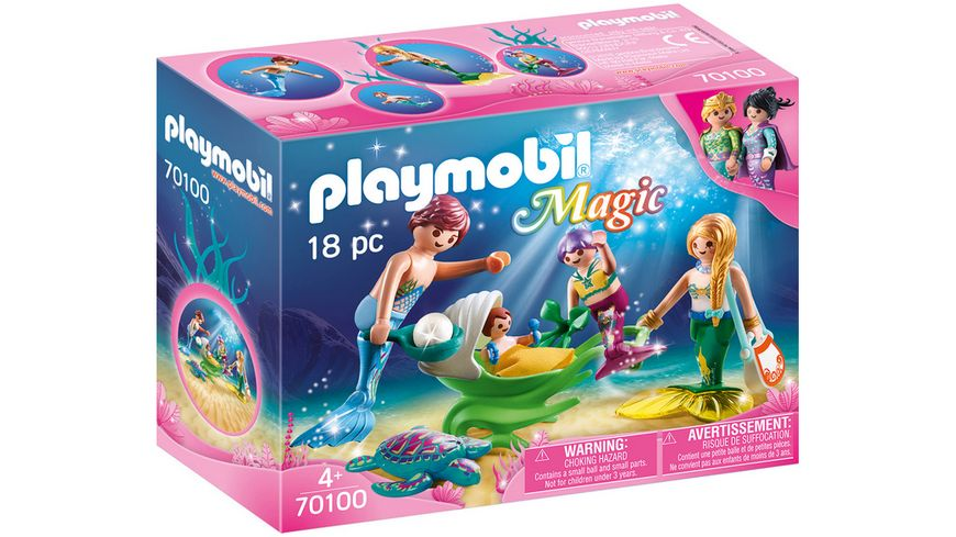 PLAYMOBIL 70100 Magic Familie mit Muschelkinderwagen