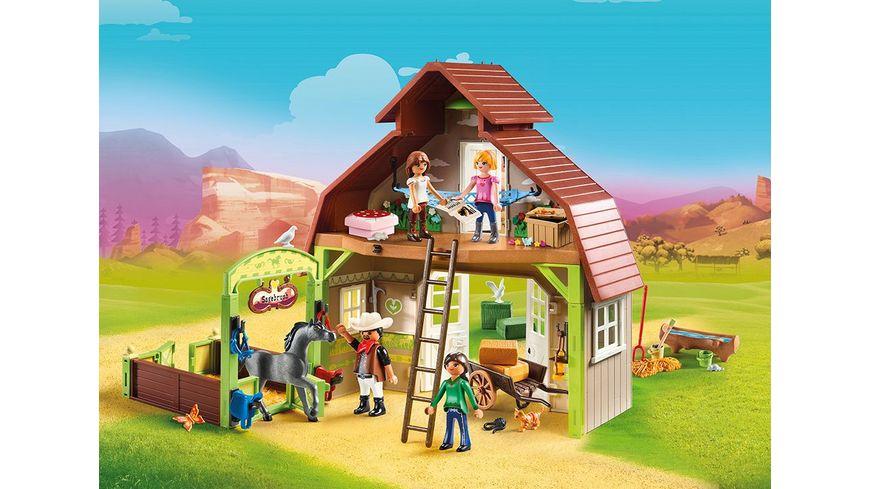 PLAYMOBIL 70118 Spirit Riding Free Stall mit Lucky Pru und Abigail
