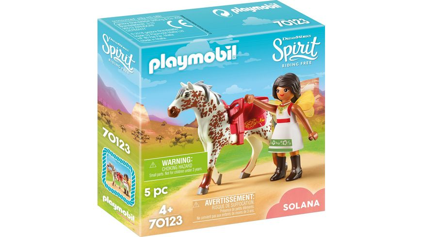 PLAYMOBIL 70123 Spirit Riding Free Solana beim Voltigieren