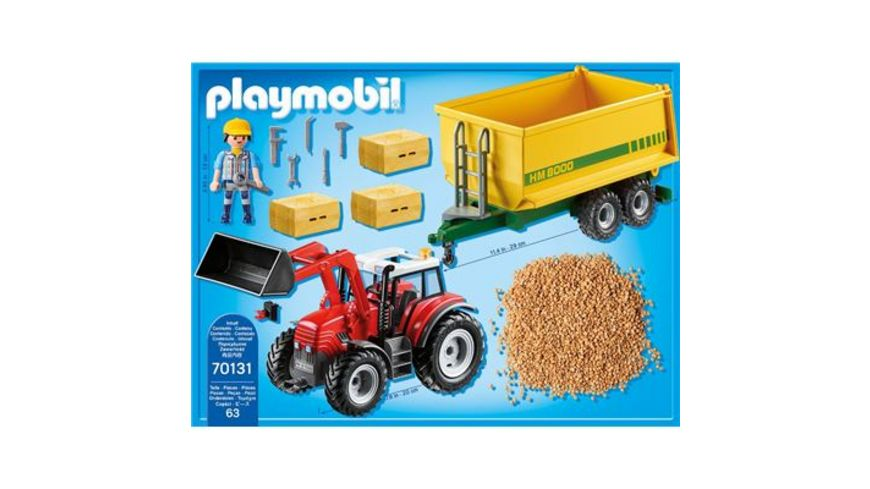 PLAYMOBIL 70131 Country Riesentraktor mit Anhaenger