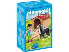 PLAYMOBIL 70136 Country Hofhund mit Huette