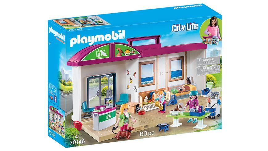 PLAYMOBIL 70146 City Life Mitnehm Tierklinik