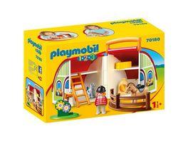 PLAYMOBIL 70180 1 2 3 Mein Mitnehm Reiterhof