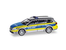 Herpa 094030 VW Passat Variant GTE E Hybrid Polizei Wolfsburg