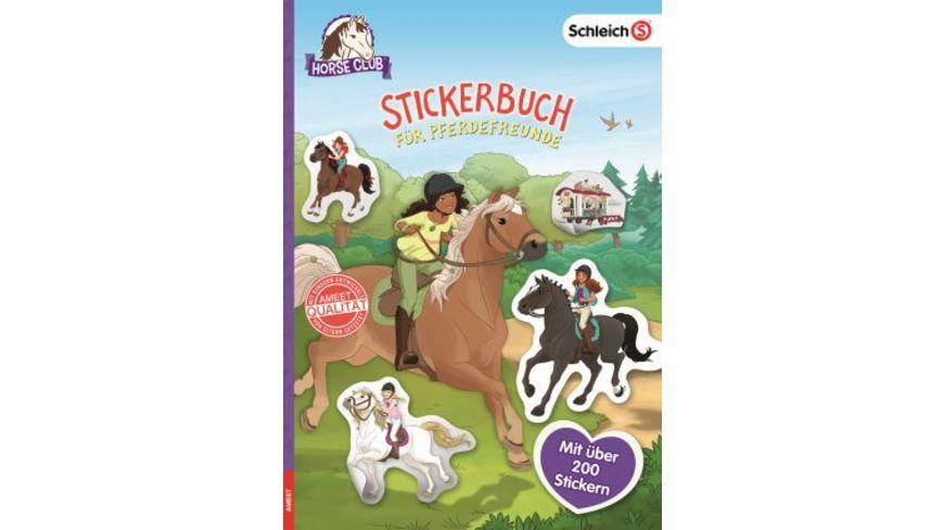 SCHLEICH Horse Club Stickerbuch fuer Pferdefreunde