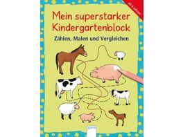 Mein superstarker Kindergartenblock Zaehlen Malen und Vergleichen