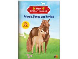 Pferde Ponys und Fohlen Viel Spass beim Malen und Stickern