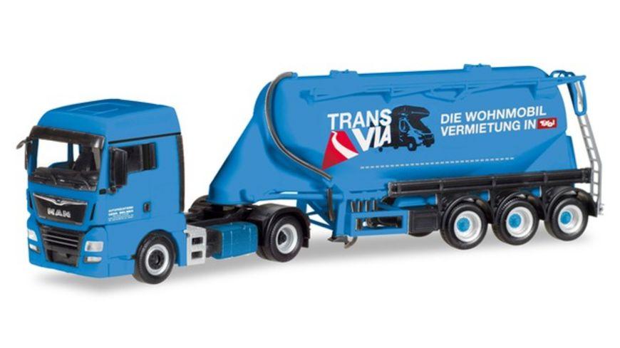 Herpa 309622 MAN TGX XLX Euro 6c Eutersilo Sattelzug Silo Melmer Trans Via A