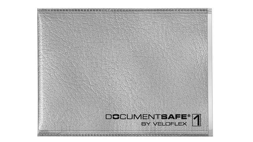 VELOFLEX Document Safe 1 Schutzhuelle fuer 1 Karte silbergrau