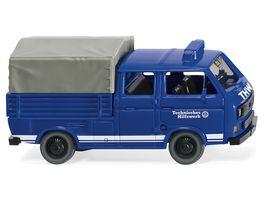 Wiking 0293 07 THW VW T3 Doppelkabine 1 87