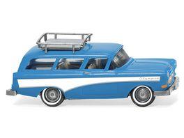 Wiking 0070 01 Opel Caravan 57 hellblau weiss 1 87