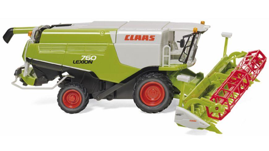 Wiking 0389 14 Claas Lexion 760 Maehdrescher mit V 1050 Getreidevorsatz 1 87
