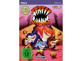 Street Sharks Vol 1 Die ersten 13 Folgen der Zeichentrickserie mit beiden deutschen Synchronfassungen Pidax Animation