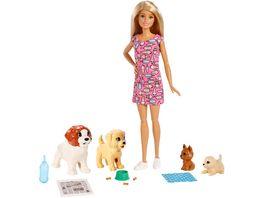 Barbie Hundesitterin Puppe blond mit Welpen Anziehpuppe Barbie Hund