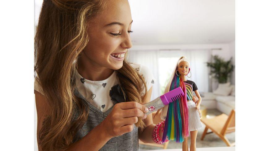 Mattel Barbie Regenbogen Glitzerhaar Puppe blond