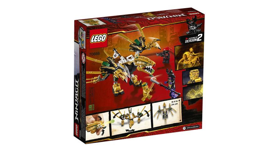 LEGO Ninjago 70666 Goldener Drache