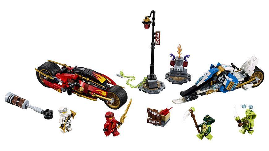 LEGO Ninjago 70667 Kais Feuer Bike Zanes Schneemobil