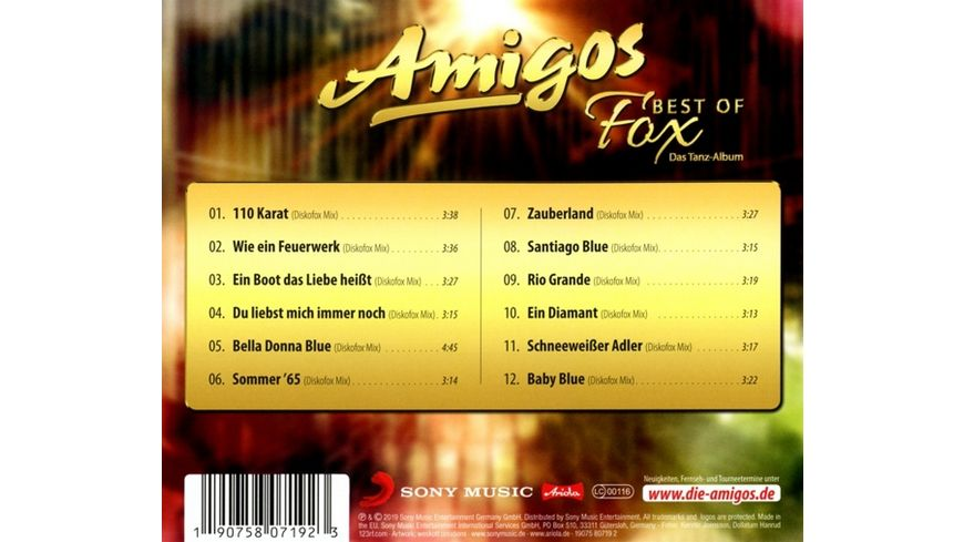 Best of Fox Das Tanzalbum