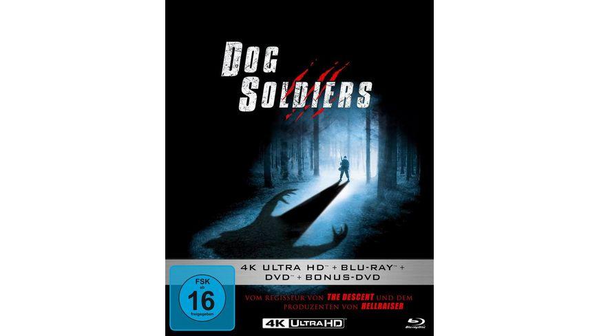 Dog Soldiers Mediabook 4K Ultra HD Blu ray 2D DVD Bonus DVD