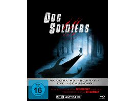 Dog Soldiers Mediabook 4K Ultra HD Blu ray 2D DVD Bonus DVD