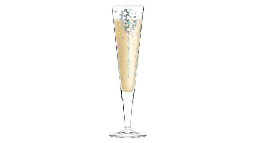 RITZENHOFF Champus Jahrgangs Champagnerglas 2018 von Kathrin Stockebrand