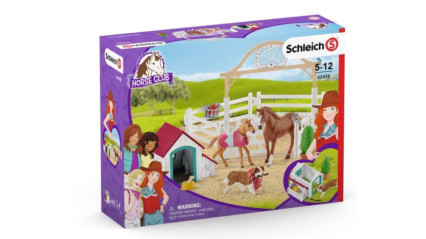 Schleich Horse Club Hannahs Gastpferde mit Huendin Ruby