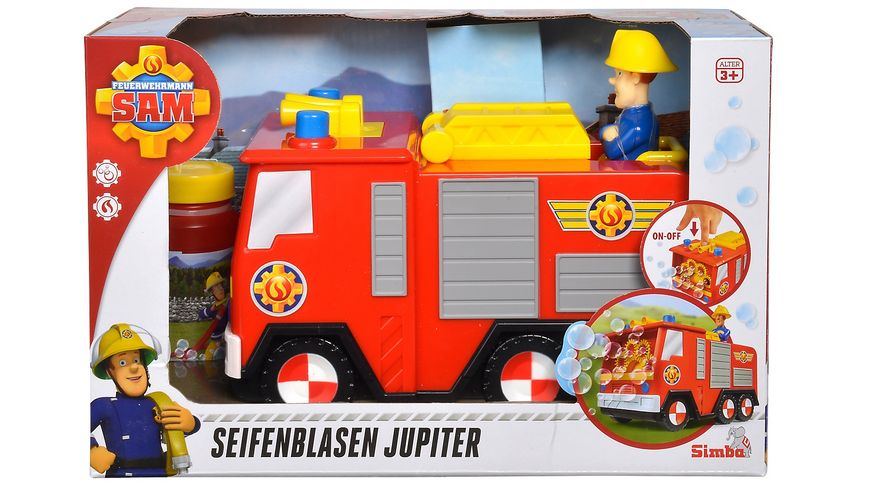 Simba Feuerwehrmann Sam Sam Seifenblasen Jupiter