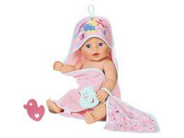 Zapf Creation Baby born Bath Kapuzenhandtuch und Schwamm